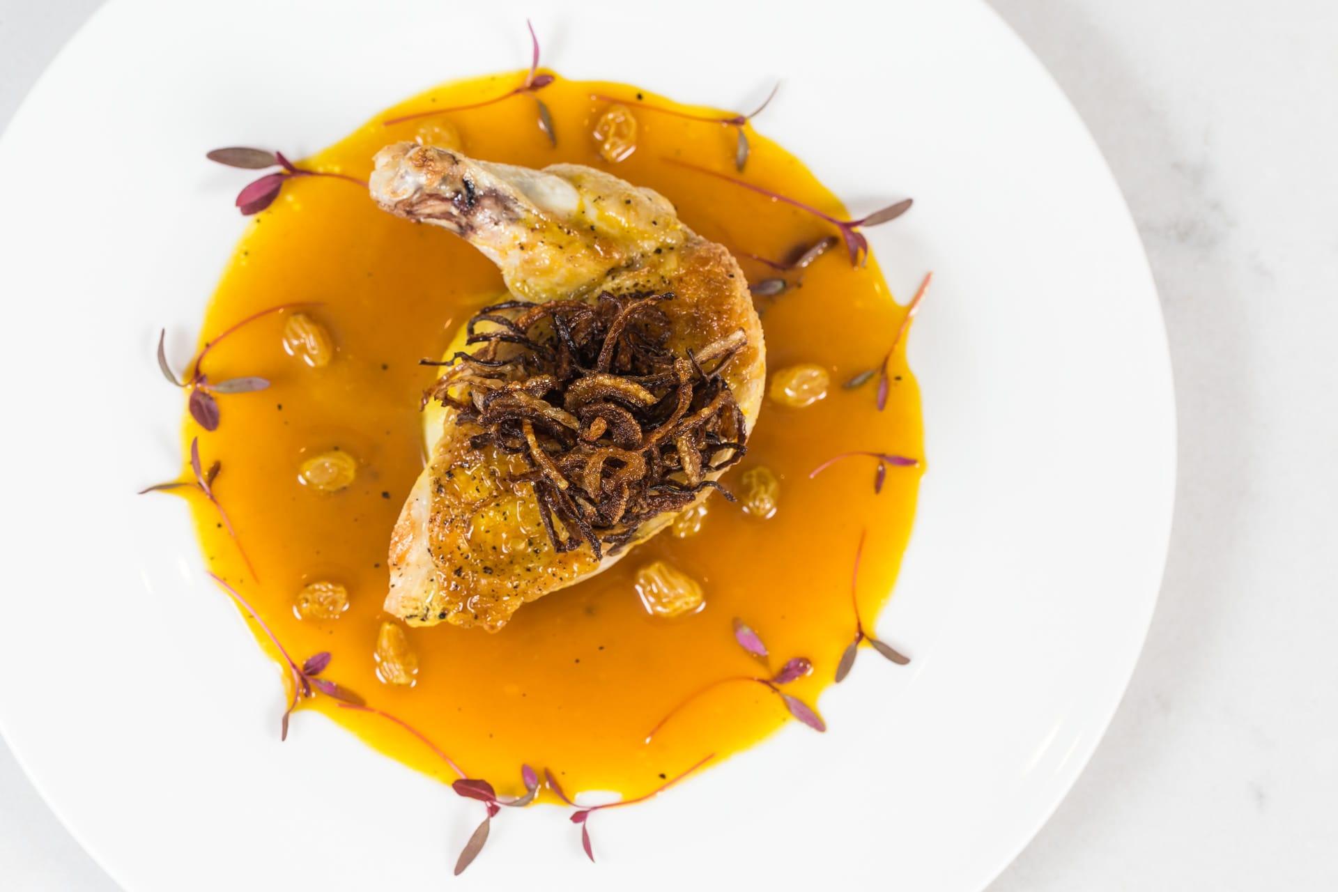 Chicken in Saffron Sauce